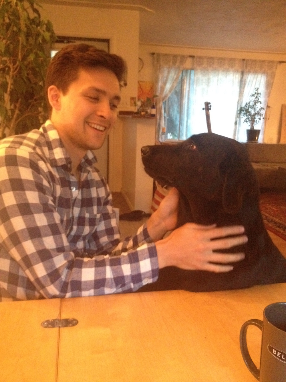 Cole sending Animal Reiki to Jaya
