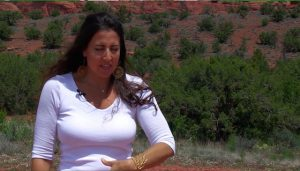 girl in Sedona explaining energy