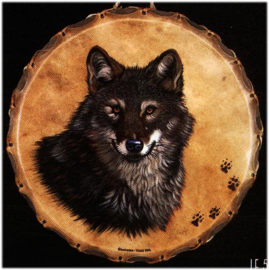 Wolf drum for Reiki